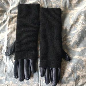 Jil sander leather and wool gloves unused